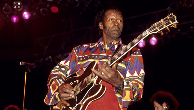 """Fellow musicians are tweeting """"RIP"""" to the late Chuck Berry."""