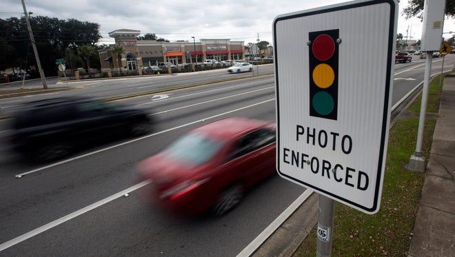 Motorists traveling along Highway 98 in Gulf Breeze encounter photo enforcement.