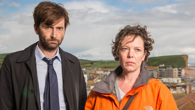 Detectives Alec Hardy (David Tennant) and Ellie Miller (Olivia Colman) investigate a woman's sexual assault in the last season of BBC America's 'Broadchurch.'