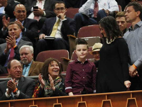 Nine-year-old Xavier Kennedy is recognized by Gov.