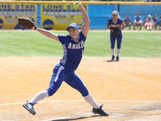 Angelo State pitcher Morgan Hill has been struggling with tightness in her shoulder during the College World Series. The Belles lost 3-0 against Southern Indiana on Friday and they'll play in an elimination game Saturday.