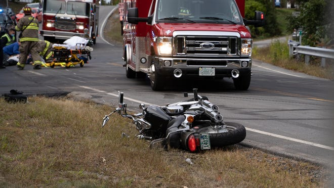 North Hampton police responded to the intersection of Route 111 and Route 151 at 5:37 p.m. Tuesday, Sept. 22 for a report of a crash involving a motorcycle and vehicle.
