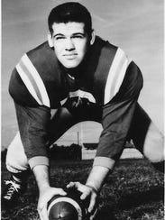 Arthur Millard Jr., Bart Millard's dad, an an All-American