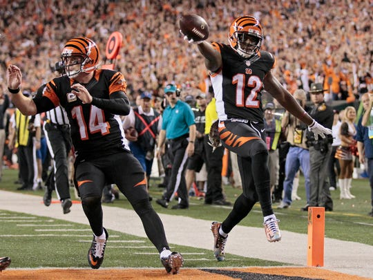 Cincinnati Bengals wide receiver Mohamed Sanu (12) left for the Atlanta Falcons this past offseason and reached the Super Bowl.