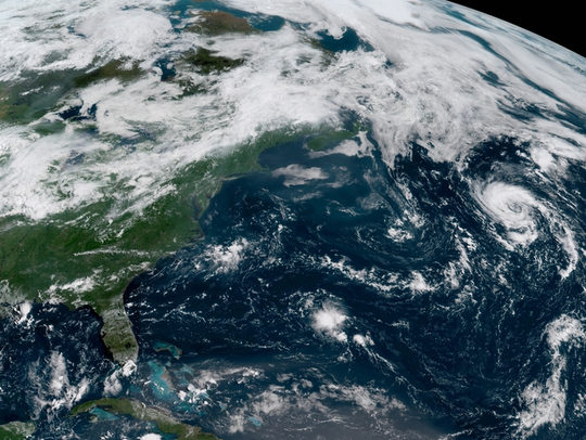 North Atlantic showing Subtropical Storm Debby Aug.