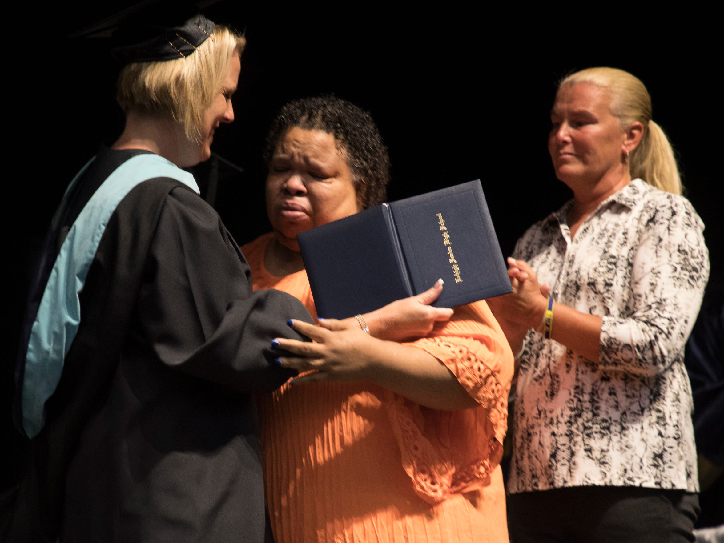 Stephanie White, the mother of Stef'an Strawder accepts