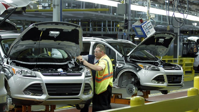 Louisville Assembly Plant employees build Ford Escapes in June 2012. economic concerns capped the list of important issues for every age, race, income and demographic measured in the latest Bluegrass Poll.