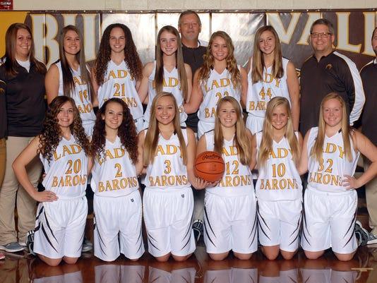 2014-15 Buckeye Valley girls basketball team