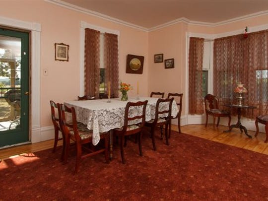 The dining room in the Costello's guest house.