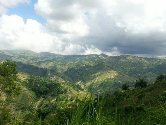 The mountains of Haiti