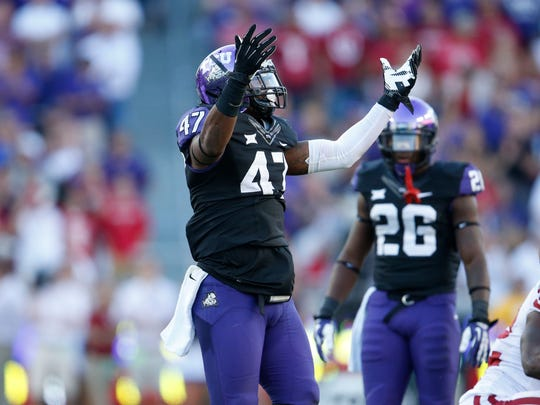 Hard-hitting LB Paul Wilson out of TCU could be a welcome addition.