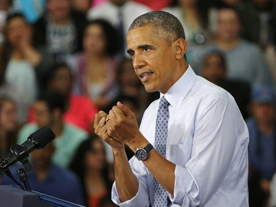 Former president Barack Obama made a trip to Elkhart in 2016 to talk about how his policies helped lead to Elkhart's recovery from a 20 percent unemployment rate.