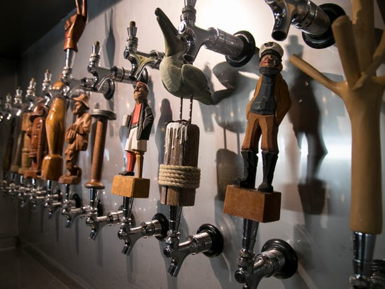 The beer tap handles at Peace River Beer Company in