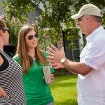 Highland Ridge resident Kimberly Moore shares her concerns with Gov. John Bel Edwards Mayor Ken Ritter. August 25, 2016.