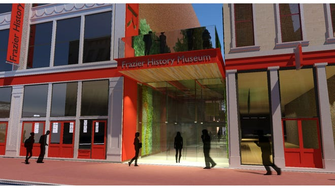 Rendering of the Frazier History Museum's new entrance.