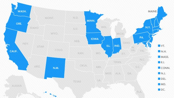Map of the same-sex marriage landscape.