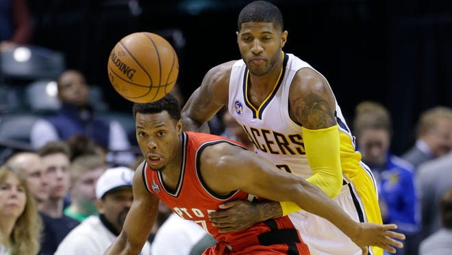 Toronto Raptors guard Kyle Lowry had 28 points to help beat the Pacers on Thursday.