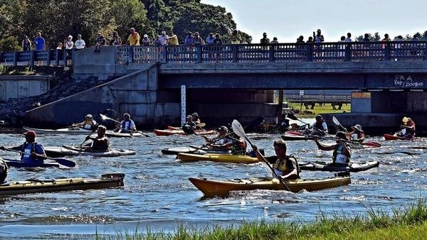 The Great River Race, held each July for the last 29 years on the North River, is one of the signature events for the North & South Rivers Watershed Association. File Photo
