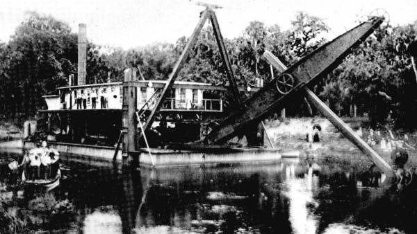 This is one of the enormous dredges that carved channels and canals into the Caloosahatchee watershed.