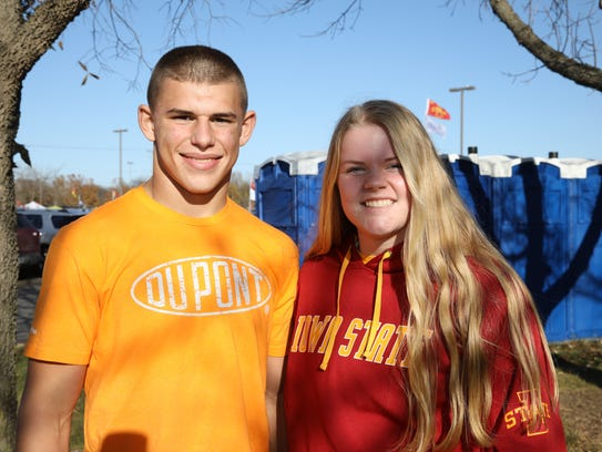 Zach Petersen, 16, and Kora Nagle, 17, both of Eldridge,