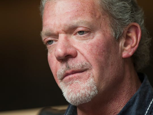 Jim Irsay, owner of the Indianapolis Colts, during an interview with Bob Kravitz of the Indianapolis Star, February 28, 2013.