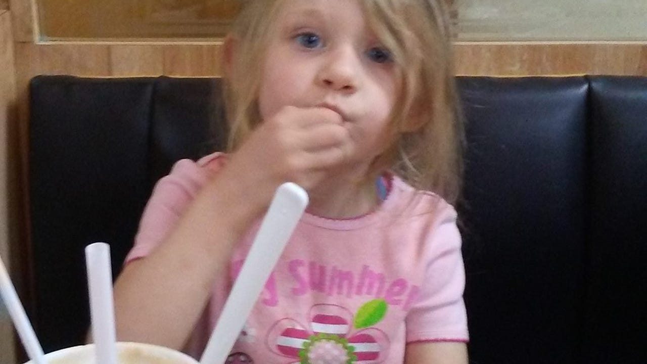 Dakota Wright, 4, is shown singing a line in one of her favorite songs, 'A Thousand Years' by Christina Perri. Dakota was fatally hit by an unknown white van in Hanover on Nov. 22, 2016.