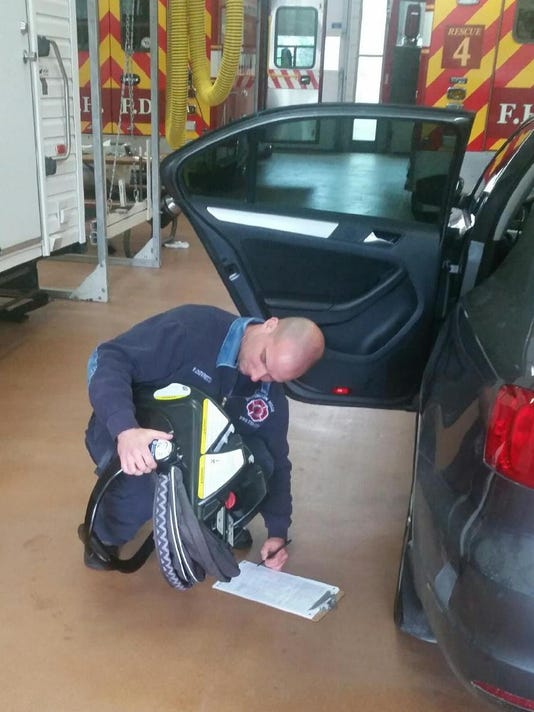 Car safety seat inspection