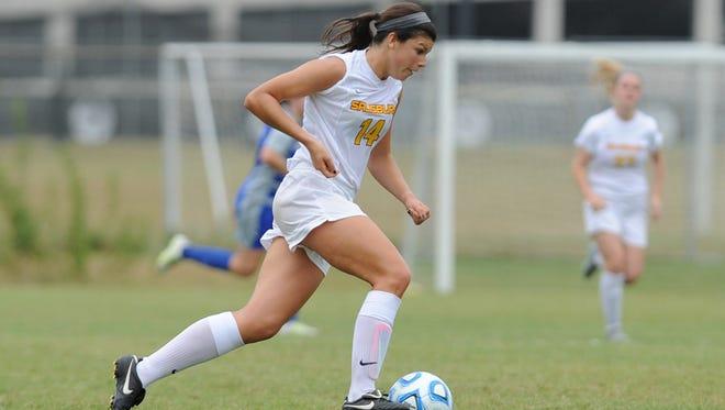 Jenna DeLetto is a striker for the Salisbury University women's soccer team.