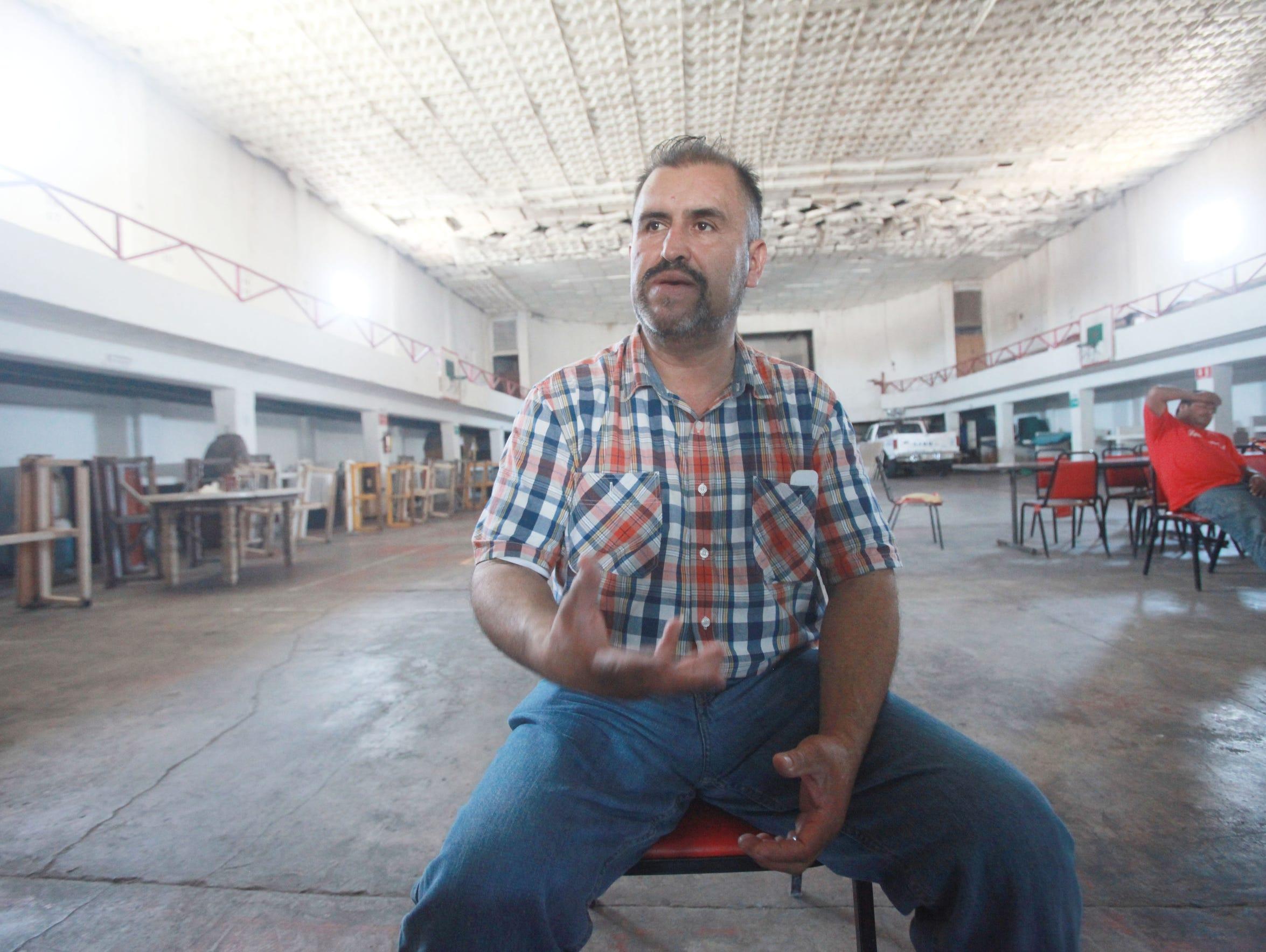 Gonzalo Pacheco runs Grupo de Ayuda, a migrant shelter