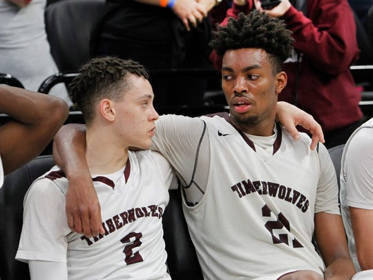 Jordan Brown, right,  led Woodcreek High to the state title game as a junior before transferring to Prolific Prep for his senior season.