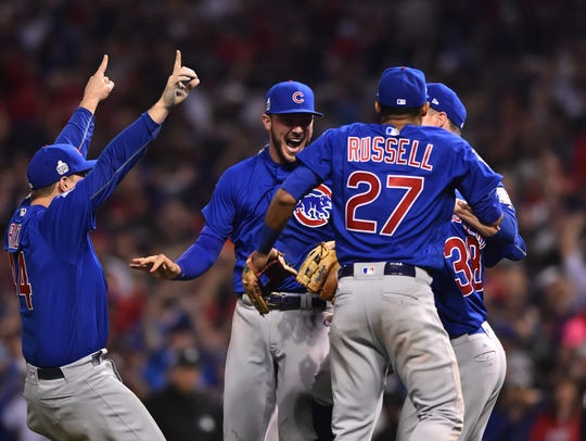 Kris Bryant, Anthony Rizzo and Addison Russell converge