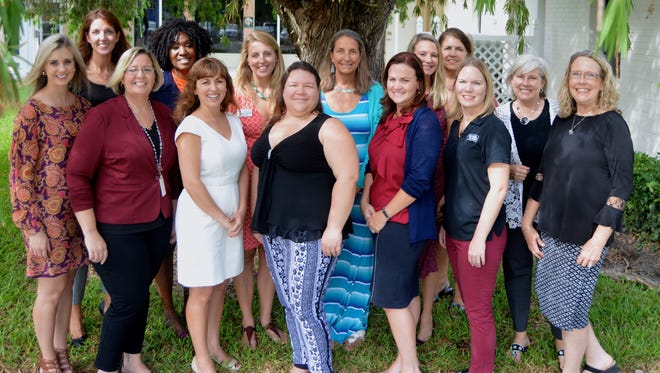 Some of the NPD committee members are, from left, Allison Cloughley, Julia Keenan, Michele Peters, Eve Kyomya, AFP President Monique Olson, Jessica Schmitt, Daisy Packer, Lori Isaac, Shannon McGuire Bowman, Samantha Ramlall, co-chair Judith Lemoncelli, Tracy Segal, Maureen Nicolace, and co-chair Beverly Smith.