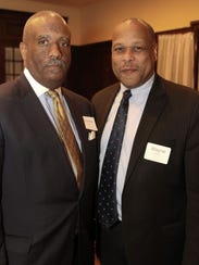 Englewood Councilman Charles Cobb (left) and Council President Wayne Hamer