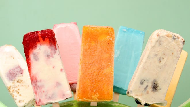 Popsicles can be made with a variety of fruits, juices and yogurt.