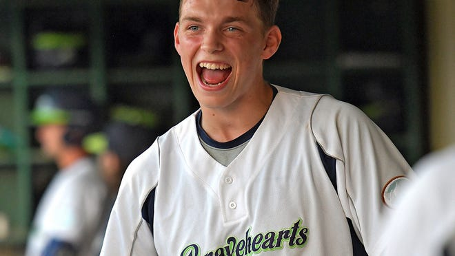 Bravehearts slugger Ben Rice could sport that home run smile once again after going long in the first inning at New Britain.