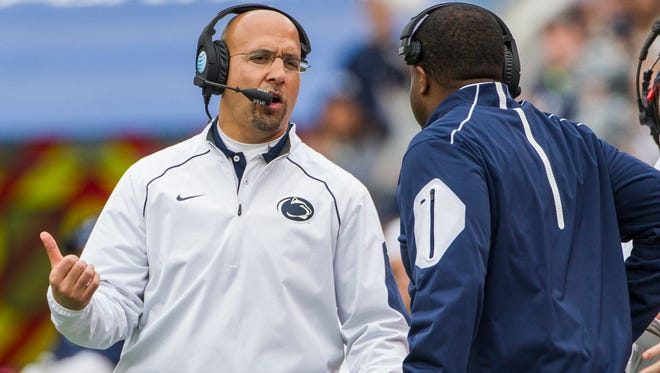 Penn State head coach James Franklin promises that next year's offense will be more line friendly.