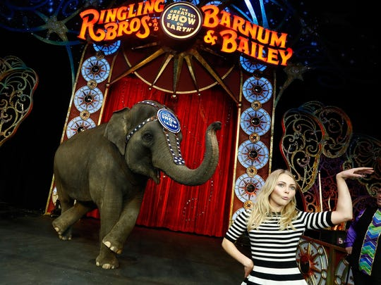 "Actress AnnaSophia Robb attends Ringling Bros. and Barnum & Bailey presents ""Legends"" at Barclays Center of Brooklyn in New York City."