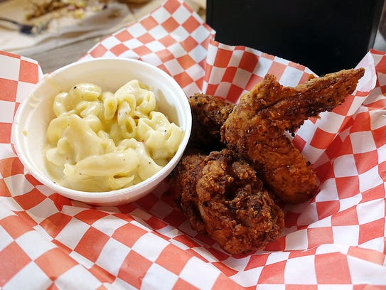 Fried chicken and 'Million $ Mac and Cheese' at The