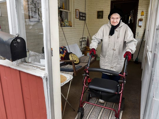 Irene Pundsack leaves her home to get in a 3-mile training