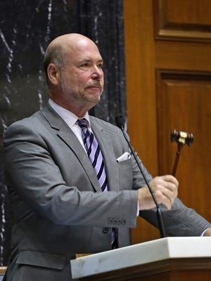 "Indiana House Speaker Brian Bosma has written a letter to the Indianapolis postmaster urging him to allow Jim Richter, ""The Broom Man,"" to resume selling his wares on U.S. Postal service property."