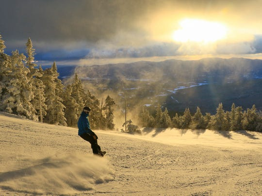 Skiers and snowboarders flocked to Stowe Mountain Resort during the holiday weekend to experience prime riding conditions.