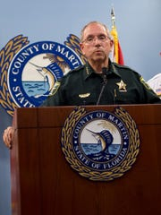 Martin County Sheriff William Snyder is shown Oct. 6, 2016.