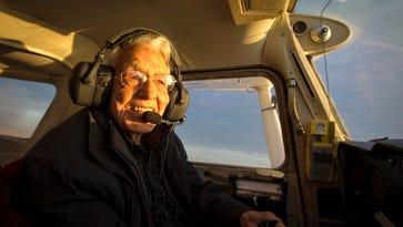 The world's oldest pilot, an Iowan, takes flight on his 99th birthday