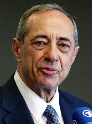 In this June 2004 file photo, former New York Gov. Mario Cuomo speaks during a news conference in New York. Cuomo, a three-term governor, died Jan. 1, 2015, the day his son Andrew started his second term as governor, the New York governor's office confirmed. He was 82.