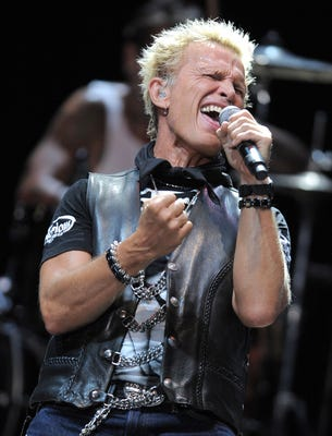Billy Idol performs at a benefit concert in Los Angeles on May 31, 2012. (Photo: Jordan Strauss, Invision, via AP)