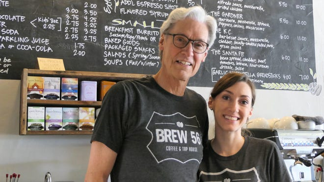 Mark Clark and Megan Giorgetti of Brew 56 in Lyons, Kansas.