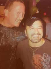 "James ""Rick"" Marshall, left, and Billy Broccio at a birthday celebration several years ago."