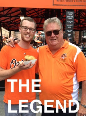 Boog and I at the Yard before the Orioles game against the Red Sox on Tuesday, Aug. 16.