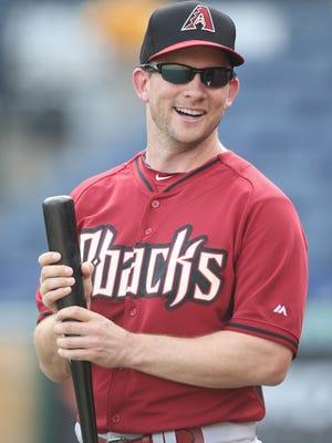 Aug 17, 2015; Pittsburgh, PA, USA; Arizona Diamondbacks third base coach Andy Green (14) before playing the Pittsburgh Pirates at PNC Park.