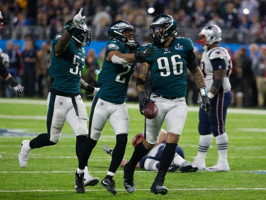 Eagles defensive end Derek Barnett had 5.0 sacks last season as a rookie, the most for an Eagles' rookie since Fletcher Cox in 2012.